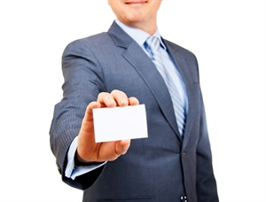 What do you think a business card is for?